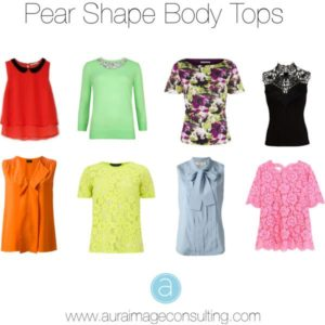 PEAR SHAPE BODY TOPS
